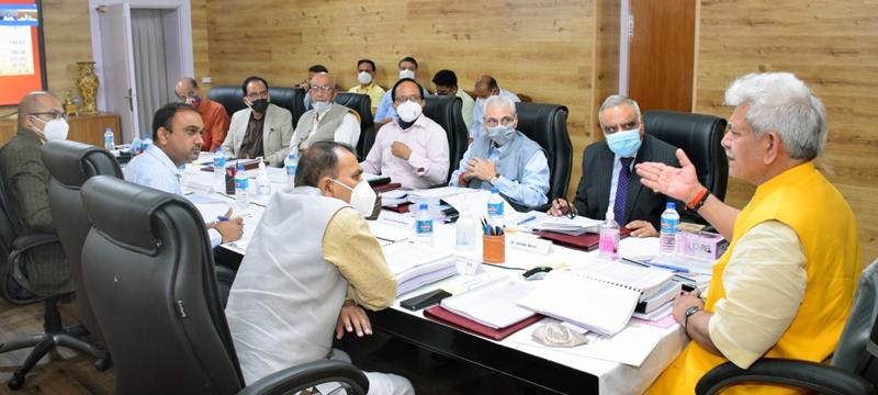 Lt Governor chairing SMVD Shrine Board meeting.