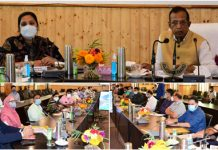 Union MoS for Industries & Commerce Som Parkash addressing a meeting at Ganderbal.