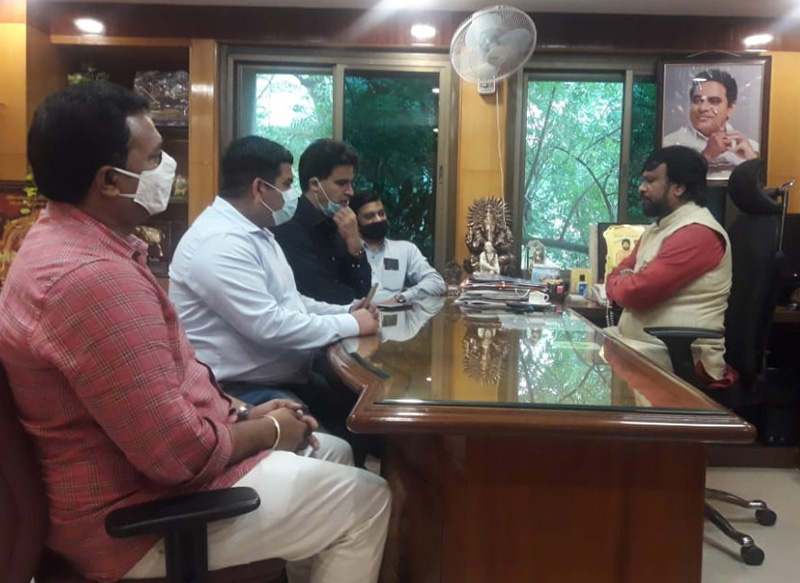 Telugu Film Directors Association in a meeting with J&K Tourism Department officers on Friday.