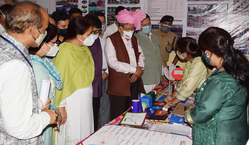 MoS External Affairs during visit to a school in Udhampur.