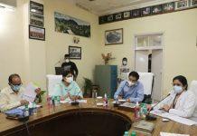 Additional Chief Secretary Vivek Bhardwaj reviewing functioning of GMC and AHs.
