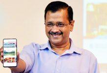 Delhi Chief Minister Arvind Kejriwal launch a Delhi Tourism App during a programme in New Delhi.