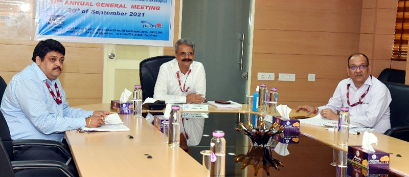 Board members in 10th annual general meeting of Chenab Valley Power Projects Private Limited at Jammu on Monday.