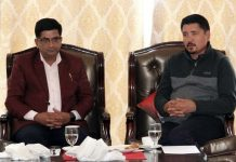 CEC Advocate Tashi Gyalson and Agriculture Minister of Sikkim LN Sharma during meeting at Leh.