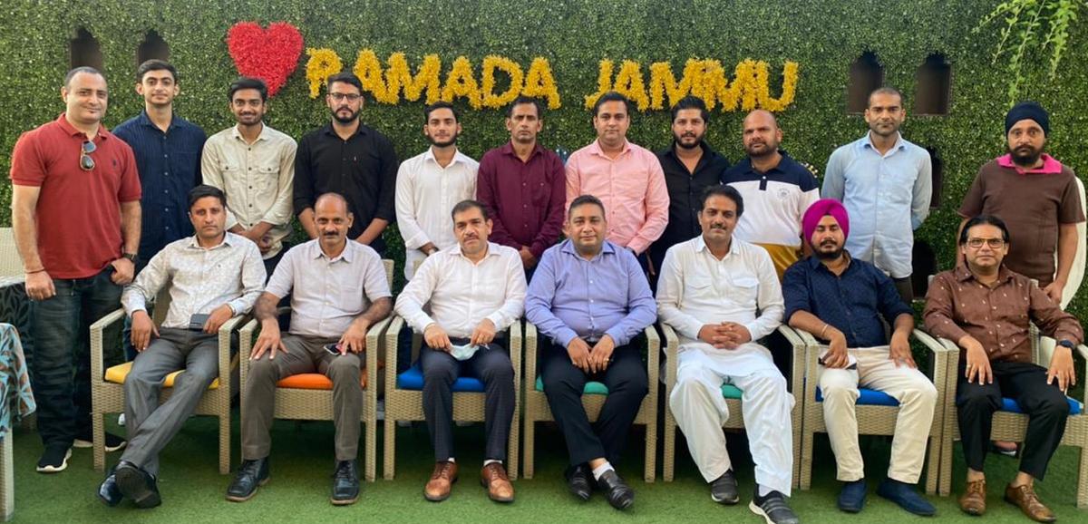 Office bearers of Sambo Association of J&K posing for a group photograph at Jammu.