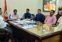 CCI members during meeting at Chamber House in Jammu on Thursday.