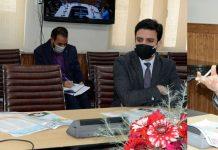 Chief Secretary, Dr. Arun Kumar Mehta chairing a meeting on Thursday.