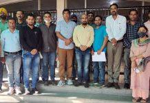 JKTA deputation posing for a group photograph outside DSEJ office Jammu.