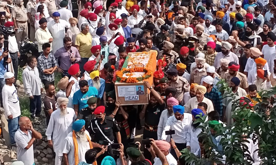 Body of soldier martyred in J&K's Poonch encounter reaches his native village in Punjab