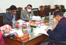 Lieutenant Governor, Manoj Sinha chairs Administrative Council meeting at Srinagar on Wednesday.