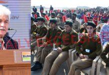 Lieutenant Governor Manoj Sinha addressing a function in Srinagar on Wednesday. -Excelsior/Shakeel