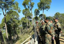 Chief of Army Staff Gen MM Naravane visiting forward areas of Poonch on Tuesday.