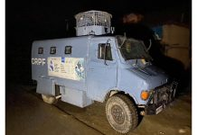 CRPF on alert after attack on non-locals at Vanpoh in Kulgam district on Sunday. —Excelsior/Sajad Dar