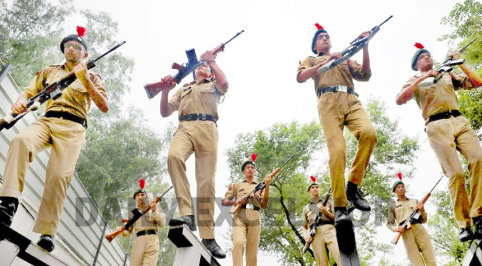 NCC cadets participate in annual training camp at Camping Ground Nagrota. -Excelsior/Rakesh