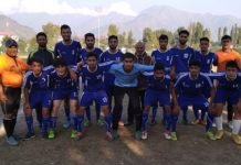 Winners posing for a group photograph at TRC Ground Srinagar on Saturday.