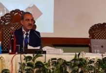 Justice S. Ravindra Bhat during 4th Round Table Conference on 'Implementation of Juvenile Justice System' in Srinagar on Saturday.