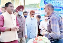Union MoS for Chemicals and Fertilizers, New and Renewable Energy, Bhagwanth Khuba during visit to Reasi on Sunday.
