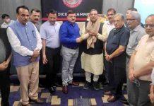 JCCI team felicitating Suresh Jain, National organising secretary 'Bharat Vikas Parishad' in Jammu.