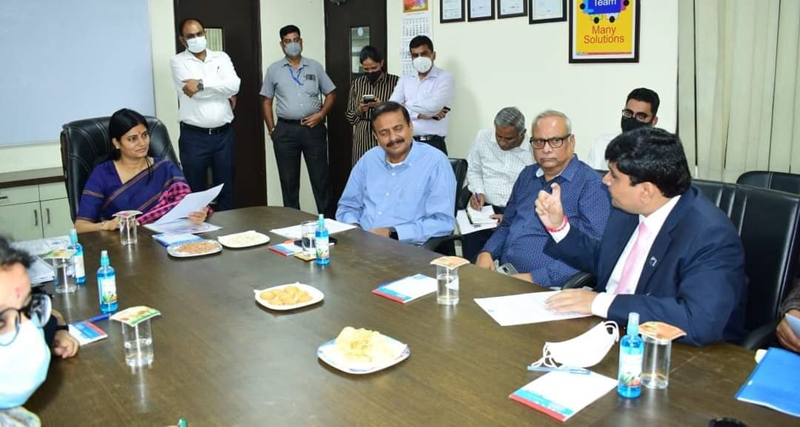 PHDCCI delegation during meeting with Union MoS I&C, Anupriya Patel in Jammu on Wednesday.