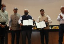 Senior officers of SKUAST-J and IHBT Palampur during signing of MoUs on Saturday.