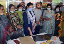 Director Industries inaugurating Swayam Rozgar Mela.