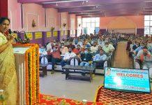 Union Agri Minister addressing a gathering at Kathua.