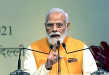 Prime Minister Narendra Modi addressing during the launch of PM Gati Shakti - National Master Plan for multi-modal connectivity, at Pragati Maidan in New Delhi. (UNI)