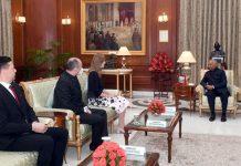 Ambassador-designate of the Republic of Slovenia, Mateja Vodeb Ghosh calling on the President, Ram Nath Kovind, at Rashtrapati Bhavan, in New Delhi on Tuesday. (UNI)