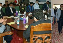 CEO, NITI Aayog, Amitabh Kant chairing a meeting at Anantnag.CEO, NITI Aayog, Amitabh Kant chairing a meeting at Anantnag.