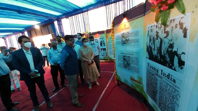 Principal DG BOC during multimedia exhibition inauguration.